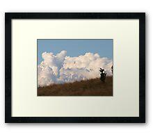 Just a bit of Fluff on the horizon, via Mt Barney Framed Print