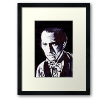 The Gentle Man of Horror Framed Print