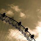 London Eye - Missing capsule B&W by serepink