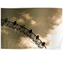 London Eye - Missing capsule B&W Poster