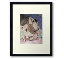 Jenova And The Puppies Framed Print
