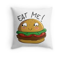 Eat me! || Hamburger Throw Pillow