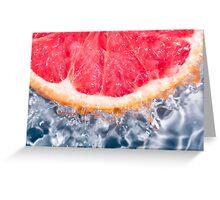 Fresh Grapefruit Greeting Card