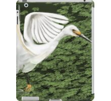 Everglades Bird, Flaired Wings, Running through Water iPad Case/Skin