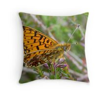 Small Pearl-bordered Fritillary Throw Pillow