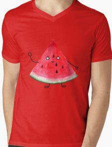 Super friendly watermelon Mens V-Neck T-Shirt