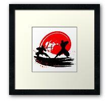 Ninjas Framed Print