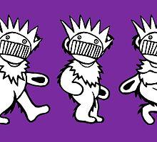 Ween Boognish / Grateful Dead Dancing Bears by drewgillespie
