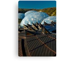 Another world domes planet Canvas Print