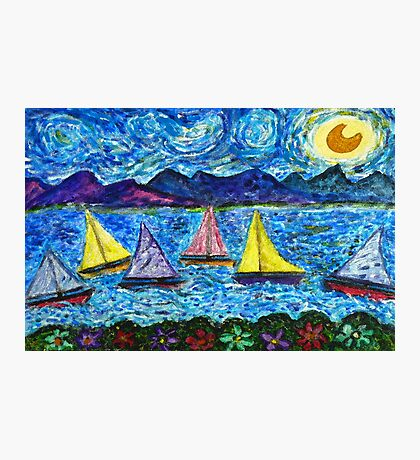 Moonlight Sail Photographic Print