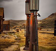 Old Gas Pumps by Barbara  Brown