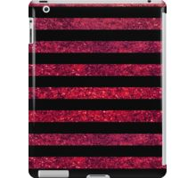 Stripes (Parallel Lines), Glitter - Red Black iPad Case/Skin