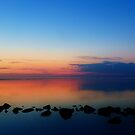Evening twilight Wadden Sea by Johan  Nijenhuis