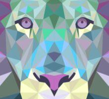 Geometric Lion Sticker