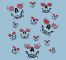 14 Red Skulls by ezcreative
