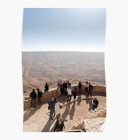 Lookout over Wadi Mujib Poster