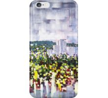 Digital horizon, city landscape iPhone Case/Skin