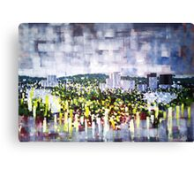 Digital horizon, city landscape Canvas Print