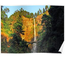 Multnomuth Falls, at the end of the day..Oregon Poster