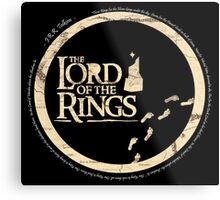Simplistic Lord of the Rings Metal Print