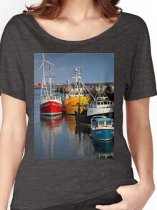 Fishing boats in harbour Women's Relaxed Fit T-Shirt
