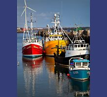 Fishing boats in harbour Unisex T-Shirt