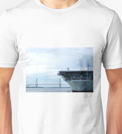 Arthur Ravenel Jr. Bridge and USS Yorktown Unisex T-Shirt