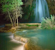 Havasu Falls at Night by cavaroc
