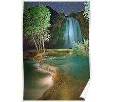 Havasu Falls at Night Poster
