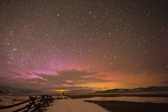 Northern Lights Over Grand Teton National Park by cavaroc