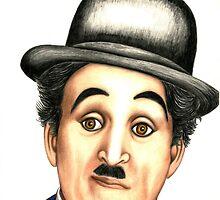 Charlie Chaplin  by Margaret Sanderson