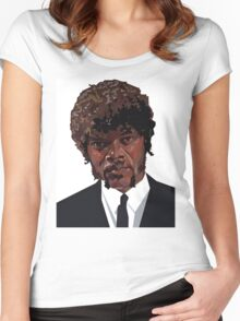 SAMUEL L. JACKSON PULP FICTION GRAPHIC TSHIRT Women's Fitted Scoop T-Shirt