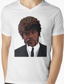 SAMUEL L. JACKSON PULP FICTION GRAPHIC TSHIRT Mens V-Neck T-Shirt