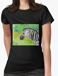 Zebra...one of my favs!  Womens Fitted T-Shirt