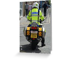 Police motorcycle Greeting Card
