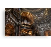 L'organo della chiesa di S. Agnese in Agone, Roma Metal Print