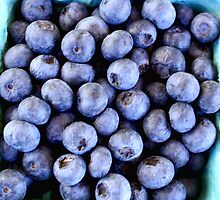 Blueberries from the Farmers Market by Renee D. Miranda