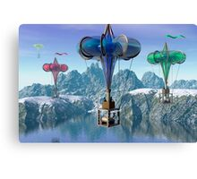 The great balloon race.  Canvas Print