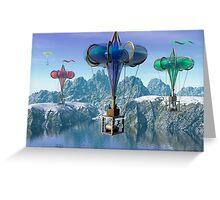 The great balloon race.  Greeting Card