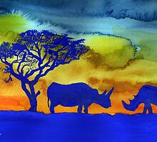 Rhinos from Africa by Elizabeth Kendall