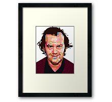 JACK NICHOLSON THE SHINING GRAPHIC ART TSHIRT Framed Print