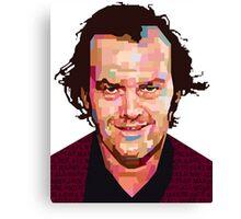 JACK NICHOLSON THE SHINING GRAPHIC ART TSHIRT Canvas Print