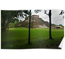 Mayan Pyramid at Comocalco Poster