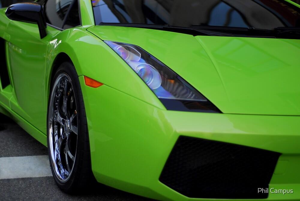 Green Lamborghini by Phil Campus