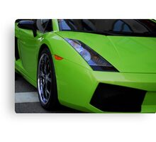 Green Lamborghini Canvas Print