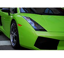 Green Lamborghini Photographic Print