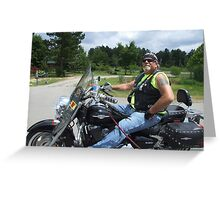 Biker Greeting Card