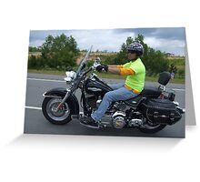 Biker 2 Greeting Card