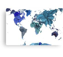Flower world (blue) Canvas Print