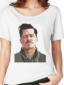 BRAD PITT ALDO RAINE INGLORIOUS BASTERDS GRAPHIC ART Women's Relaxed Fit T-Shirt